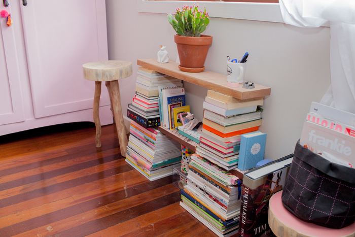 stacked books for a shelf