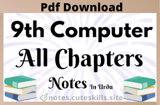 9th Class Computer New Syllabus All Chapters Notes in Urdu Pdf