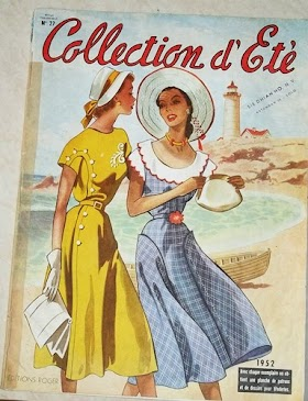 Majalah mode tahun 1952 dan tahun 1949 atau Album De Mode. harga @75.000. minat hub 085866230123