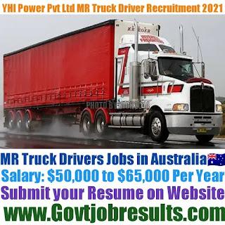 YHI Power Pvt Ltd MR Truck Driver Recruitment 2021-22