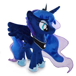 Princesa luna unicórnio de pelúcia my little pony