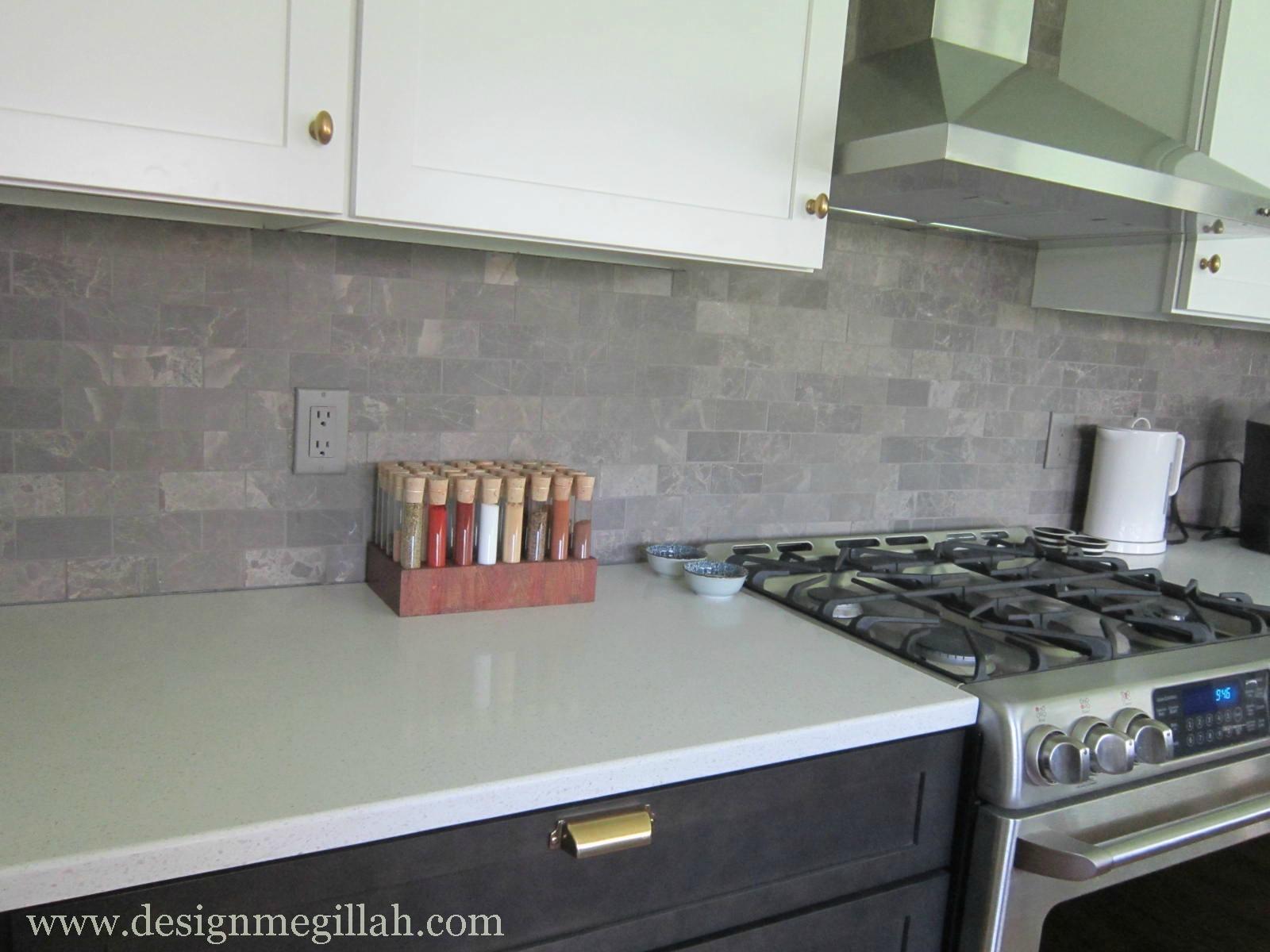 Light Grey Glass Backsplash: Design Megillah: Ta Da...The Kitchen