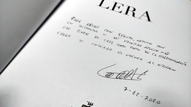 DEDICATORIA LUIS LERA LIBRO COCINA