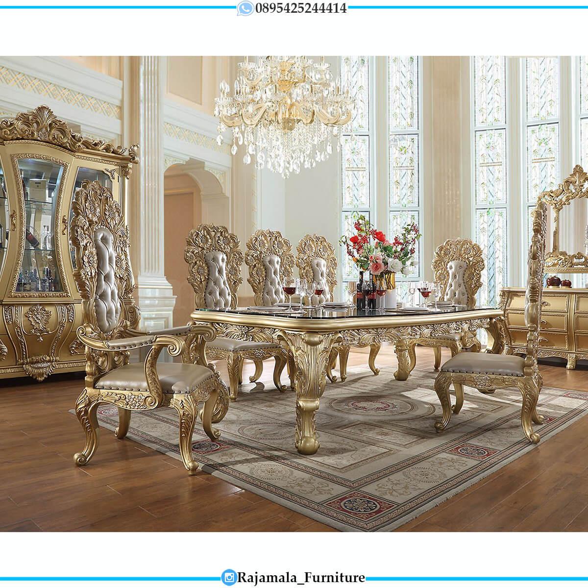 Epic Set Meja Makan Mewah Ukiran Terbaru Luxury Baroque Old Style RM-0709