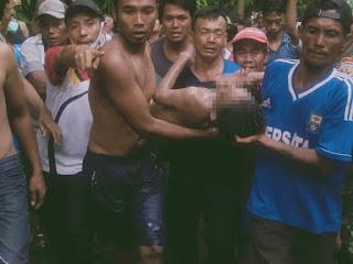 Jasad Pelajar Asal Desa Barabali Yang Hilang Terseret Arus Sungai Ditemukan Tim Gabungan TNI-Polri, SAR Dan Warga