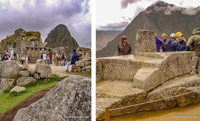 Praça Sagrada de Machu Picchu e a Intihuatana, um calendário solar