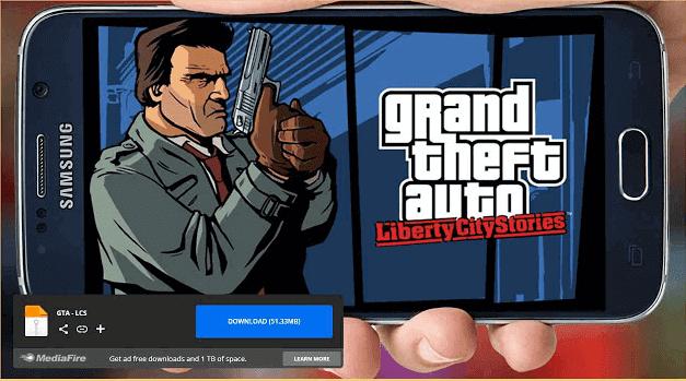تحميل لعبة GTA Liberty City Stories apk من ميديا فاير لاندرويد بحجم خرافي