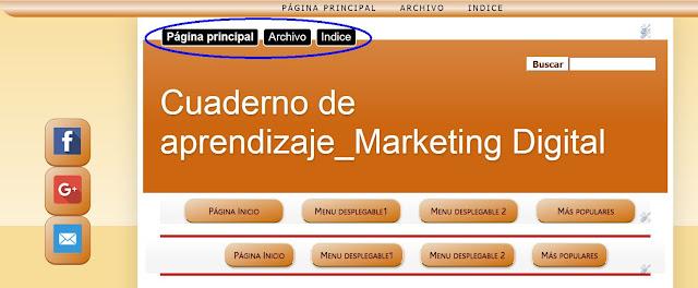 Barra social fija en sidebar left del blog