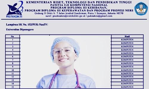 Hasil Ujian Kompetensi Semua Tenaga Kesehatan Indonesia di Dikti 2019, 2020, 2021, 202