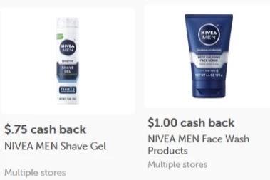 NIVEA MEN Shaving Gel ibotta CASH BACK Rebate *HERE*