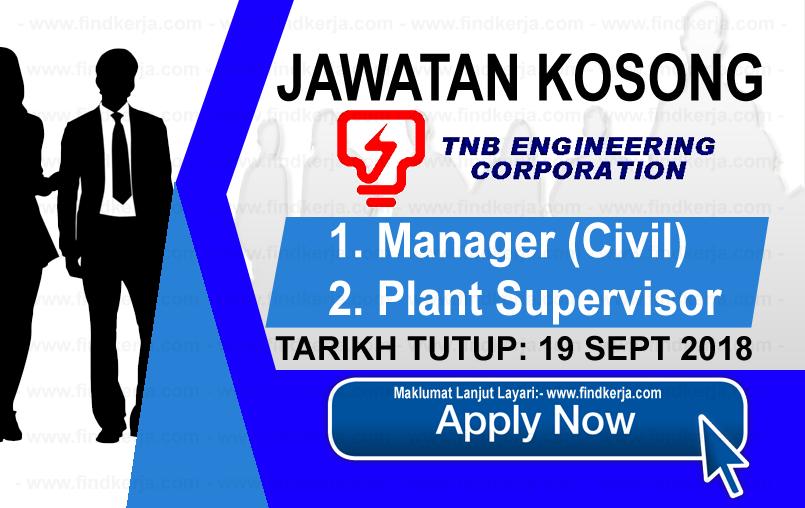 Jawatan Kerja Kosong TNB Engineering Corporation logo www.ohjob.info www.findkerja.com september 2018