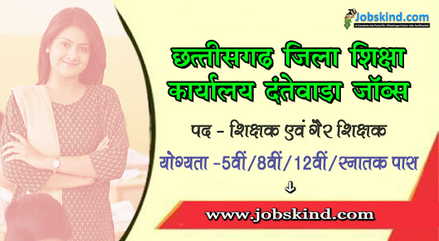 Cg DEO Dantewada Recruitment 2020 Chhattisgarh Govt Job Advertisement Govt. English Medium School Dantewada Recruitment All Sarkari Naukri Information Hindi.