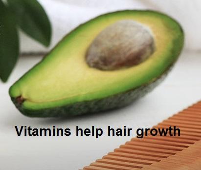 Vitamins help hair growth