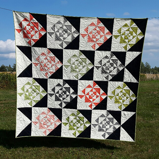 Web Weaver Quilt designed by Cathy Victor from Me and My Mum Quilting for Moda Bake Shop