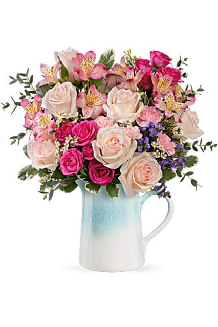 Teleflora Country Flower Pitcher Vase
