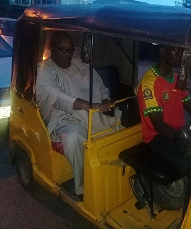Doyin Okupe In Keke Marwa on Lagos Street
