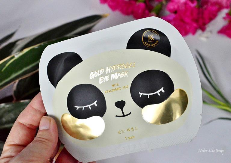 Koreańska maska pod oczy z kwasem hialuronowym K-beauty recenzja
