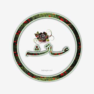 Ayesha name dp in Urdu