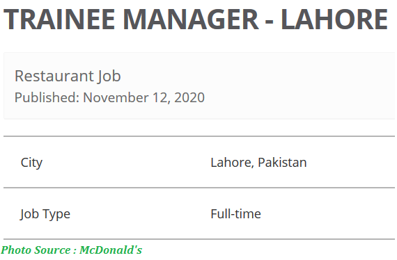 McDonalds Jobs November 2020 - Latest Jobs in McDonalds 2020 Apply Online
