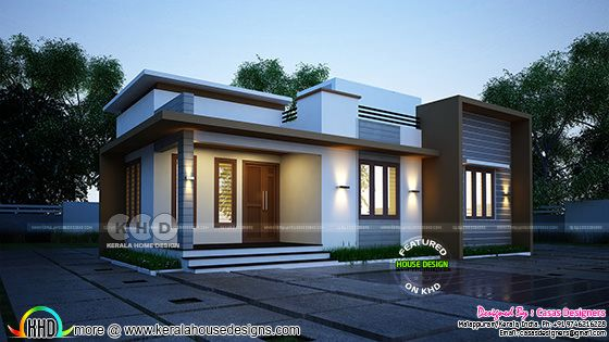 990 square feet 1 bedroom house rendering