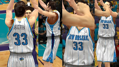 NBA 2K13 New Orleans Hornets Home Jersey Patch