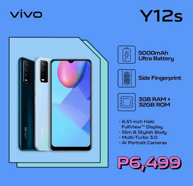 Vivo Y12s Offers Stylish Design and Powerful Battery for Only Php6,499