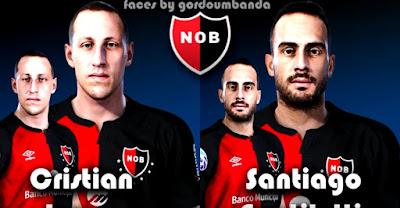 PES 2020 Faces Cristian Lema & Santiago Gentiletti by Gordoumbanda