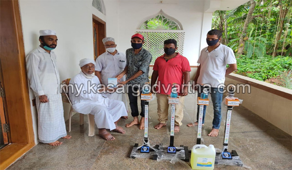 Kerala, News, sanitizer for masjid donated by ameen charity