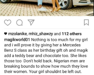 Mercedes Benz S Class Gifted to Naija Lady from Boyfriend for Birthday