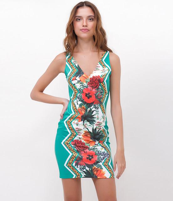 Moda Vestido Tubinho Floral