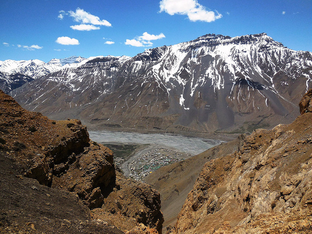 View of Kaza from top