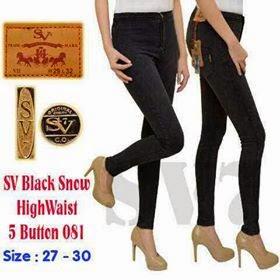 Celana Wanita Jeans Hitam