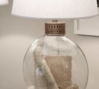 Pottery Barn glass lamps that you can fill!