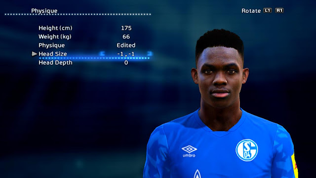 Rabbi Matondo (Schalke 04) Face For PES 2013
