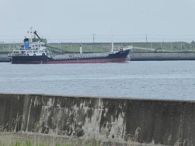 大阪舞洲ゆり園 海(大阪湾)と船