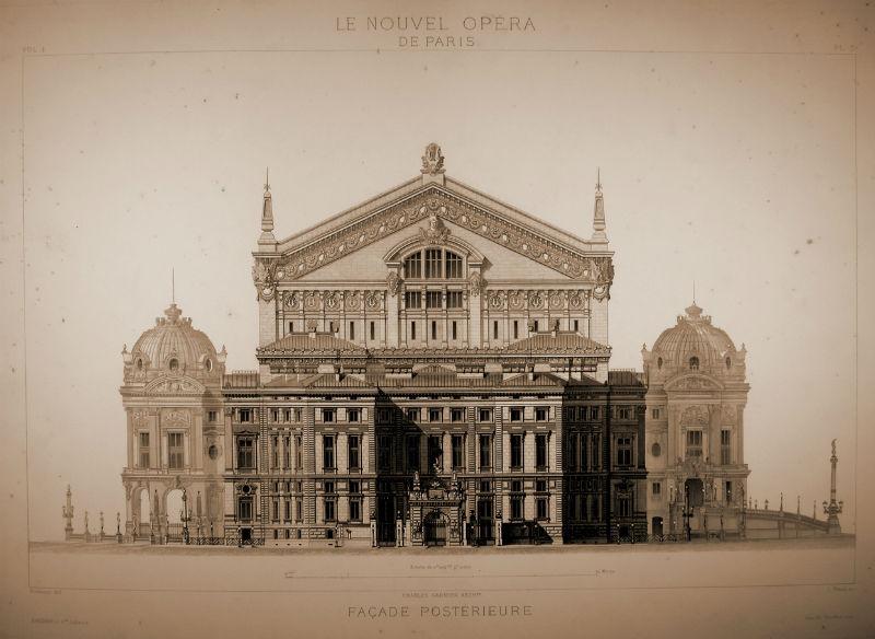 Alzado posterior de la Ópera Garnier