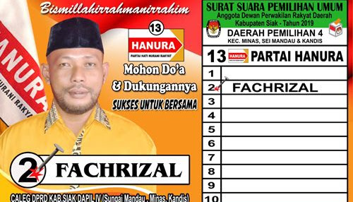 Caleg DPRD Kabupaten Siak Dapil IV
