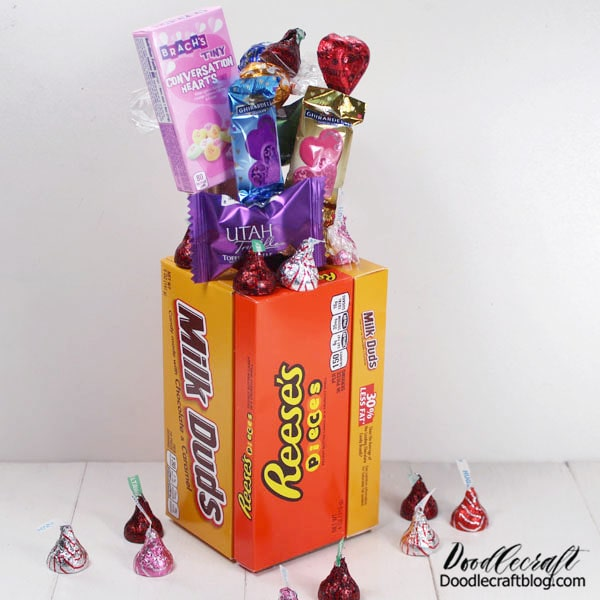 This cute Valentine Candy Bouquet is the perfect gift for a loved one that might otherwise be forgotten on Valentine's day. I would love to get this as a gift any day of the week, so don't let Valentine's day be a hinderance!
