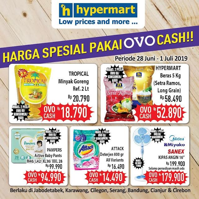 #Hypermart - #Promo Harga Special Pakai OVO Casch Periode 28 - 01 Juli 2019
