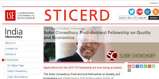 The Subir Chowdhury Post-doctoral Fellowship