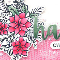 Handmade non traditional Christmas card using Stampin Up Words of Cheer stamp set and bundle, Whimsy and Wonder paper and coloured with Stampin Blends alcohol markers. Card by Di Barnes - Independent Demonstrator in Sydney Australia - colourmehappy - sydneystamper - 2021 christmas catalogue