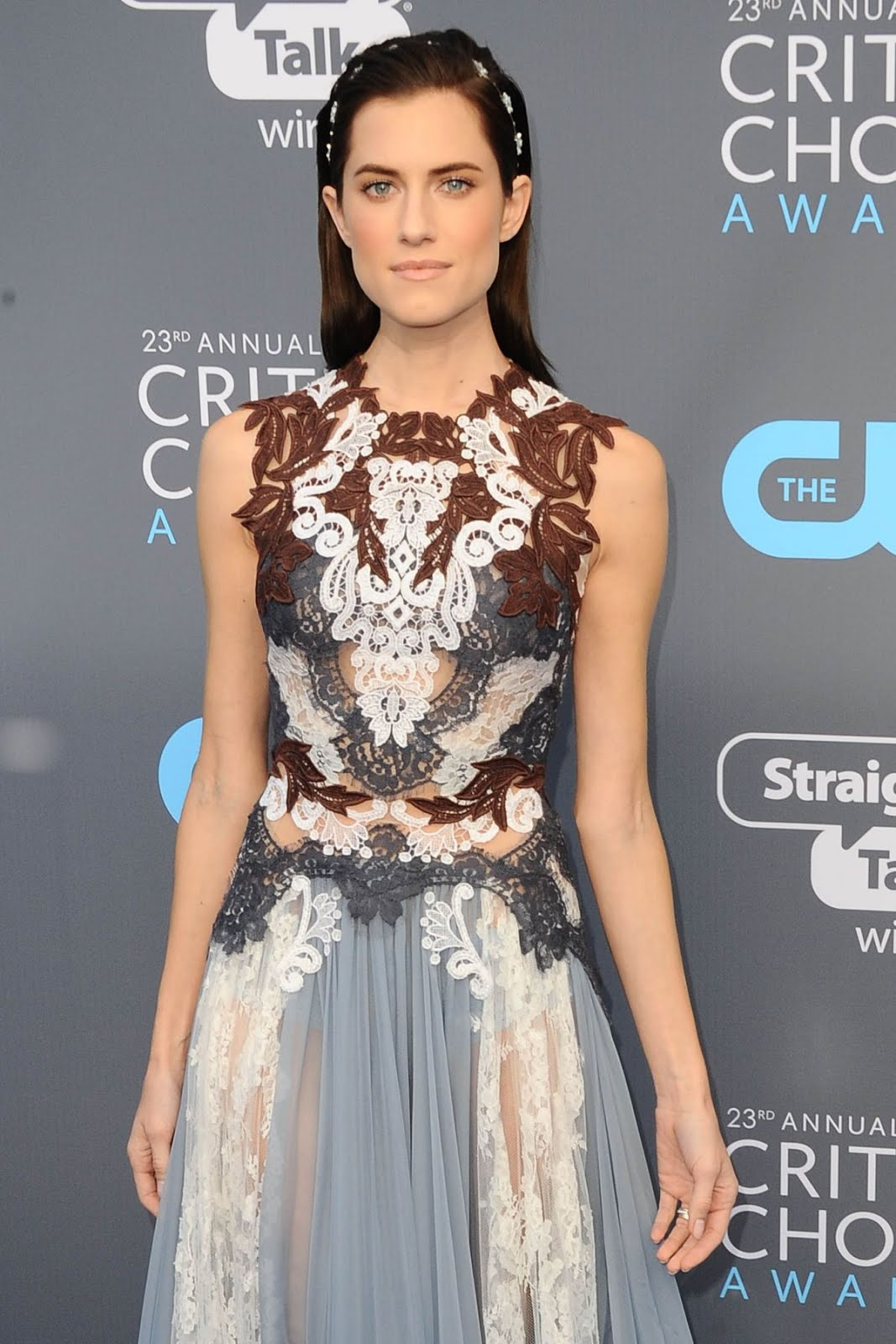 Allison Williams in chocolate dress at 2018 critics Choice Awards In Santa Monica