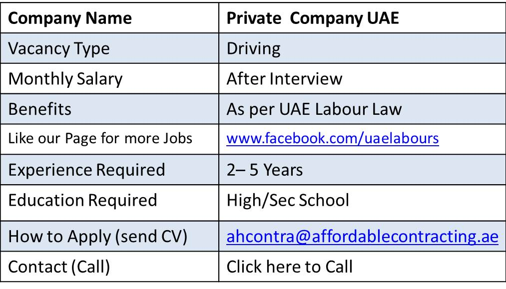 heavy bus driver jobs in dubai rta