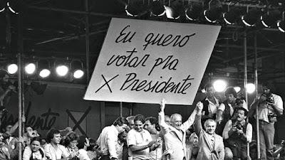 O movimento que exigia eleições diretas colocou lado a lado Ulysses Guimarães, Tancredo Neves, Leonel Brizola, Fernando Henrique Cardoso e Luiz Inácio Lula da Silva