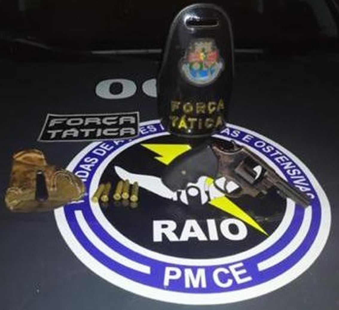 PM apreende arma de fogo no município de Missão Velha