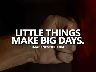 Motivational Quotes Little things make big days.