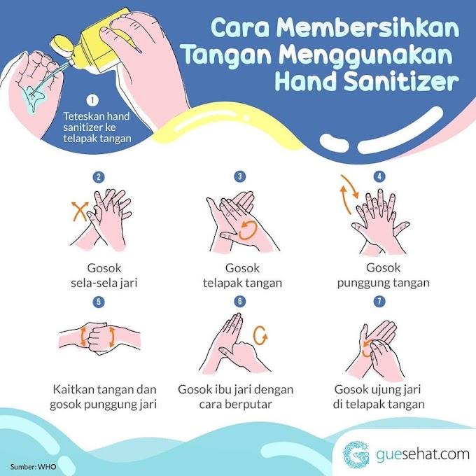 Cara betul guna hand sanitizer