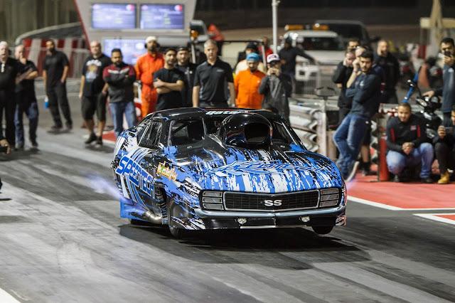 3.66s Al Anabi pro nitrous speedtech camaro 1/8 mile record
