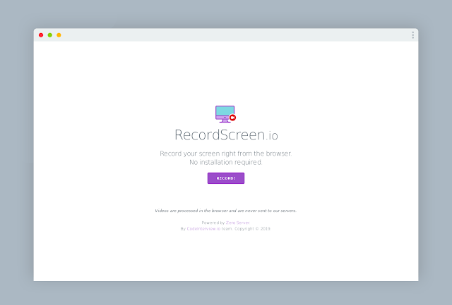 Record your Screen Right from the Browser [NO INSTALLATION]