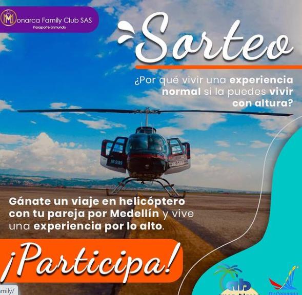 Sorteo de Monarca Family Agencia de Viajes en Instagram